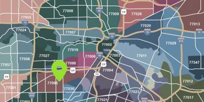 Houston Kartta Kartat Houston Texas Usa